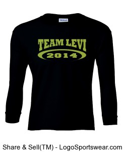 Team Levi 2014 100% Heavyweight Ultra Cotton Long Sleeve Youth Tshirt Design Zoom